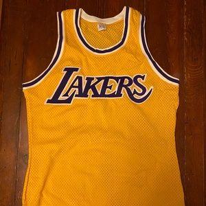 Authentic Sand Knit LA Los Angeles Lakers Jersey